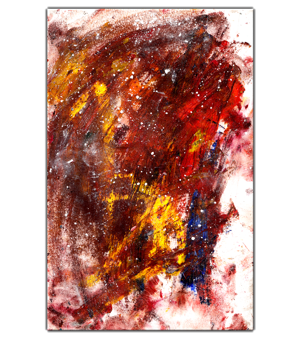 contemporary fine art abstract oil pastel painting